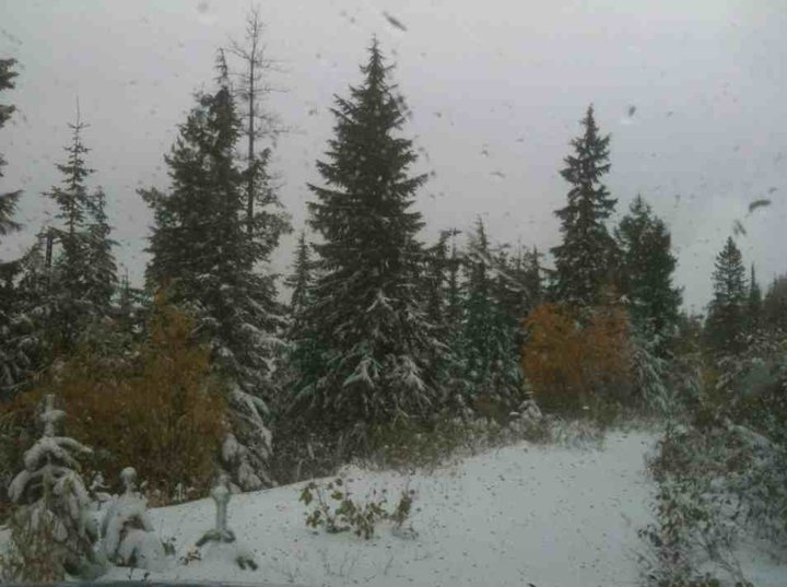 (Photo of Silver Mountain sent in from KHQ's Mike Perry on Tuesday)