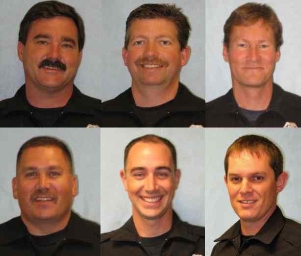 (From Top Left: Dan Cole, Bill Hager, Bruce Palmer, Doug Strosahl, Kyle Heuett and Mike McNab)