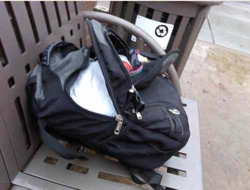(Photo of suspicious backpack sent into PIX@KHQ.com)