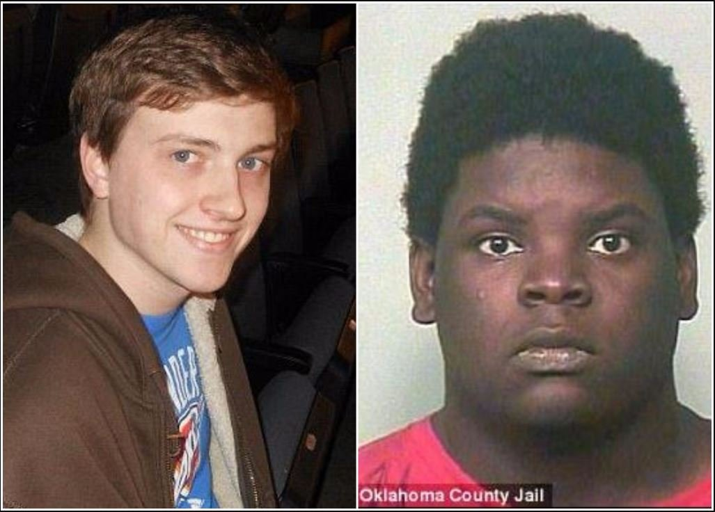 Cash Freeman (left) fatally shot Leland Michael Foster (right) when he was alerted that Foster was trying to drown his three-month-old infant twins and ran over to Foster's home to stop him.