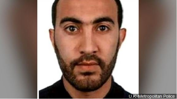 Rachid Redouane, one of three suspects in the van and knife attack in London