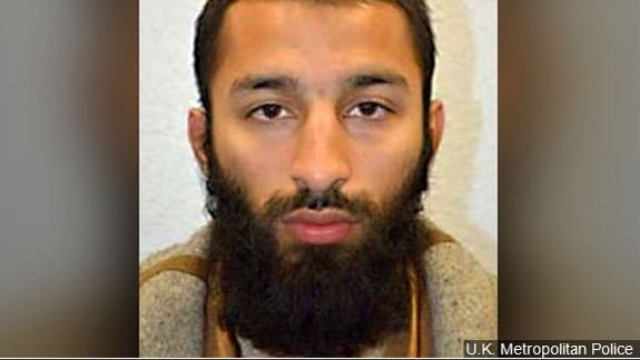Khuram Shazad Butt, one of three suspects in the van and knife attack in London