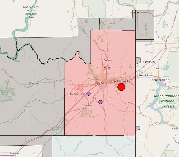 2600 Inland Power customers without power in Spokane Valley