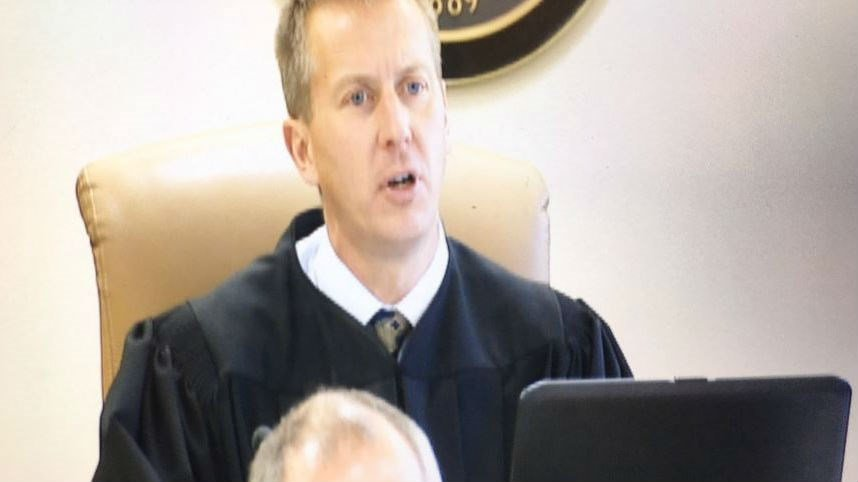 Judge Cooney giving the jury their instructions for their deliberations