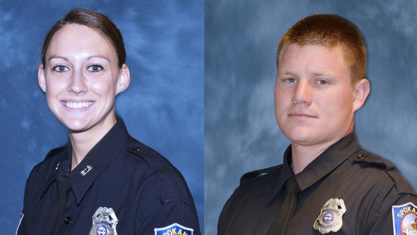 Officers Kelsey Scott and Caleb Martin