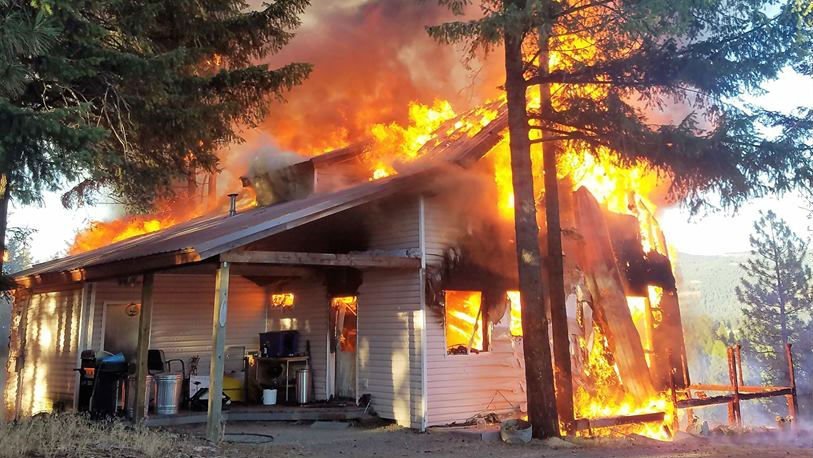 Firefighter Loses Home To Fire In Sagle Spokane North