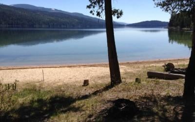 A view from one of the lake front properties up for auction. Photo: Idaho Department of Lands