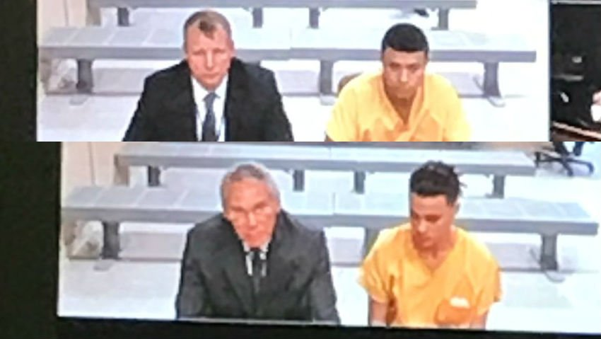 Brandon Pierce (Top) and Christian Palmer (Bottom) make their first court appearance on Monday