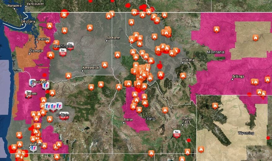 Where Is The Smoke Coming From Map Shows Wildfires Burning - Washington state falling off the us map