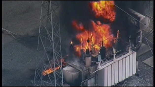 Breaking News Redmond Substation Fire Spokane North