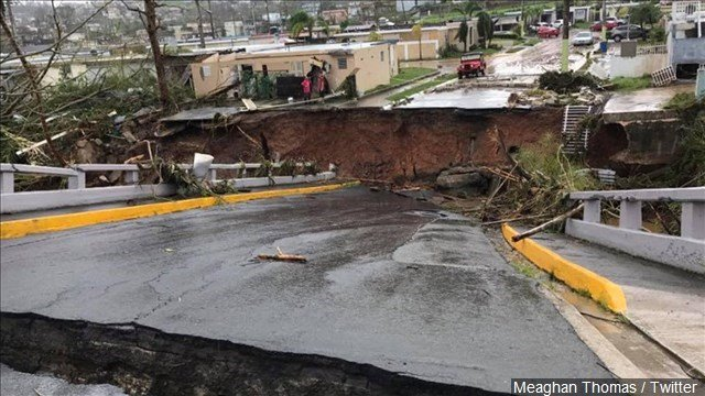 Damage from Hurricane Maria in Puerto Rico