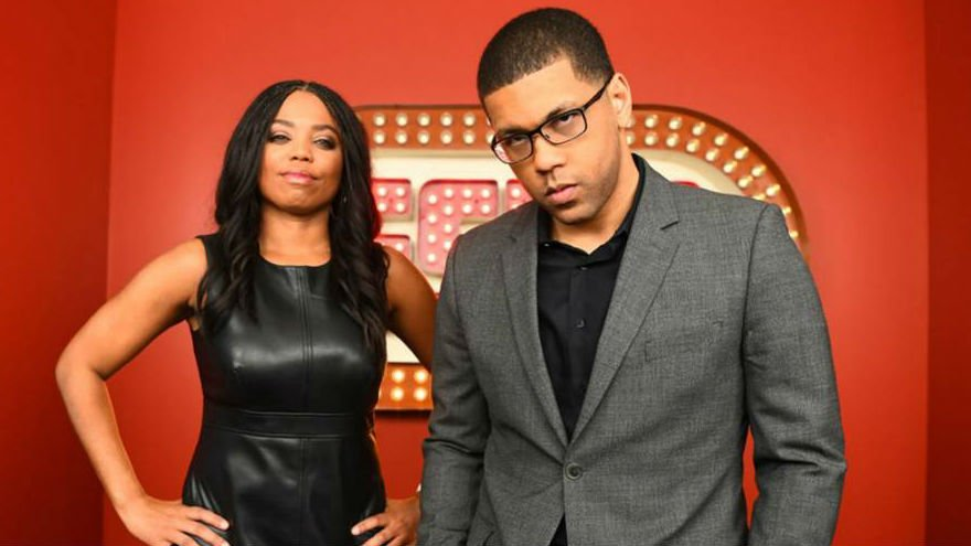 Jemele Hill and her co-host Michael Smith