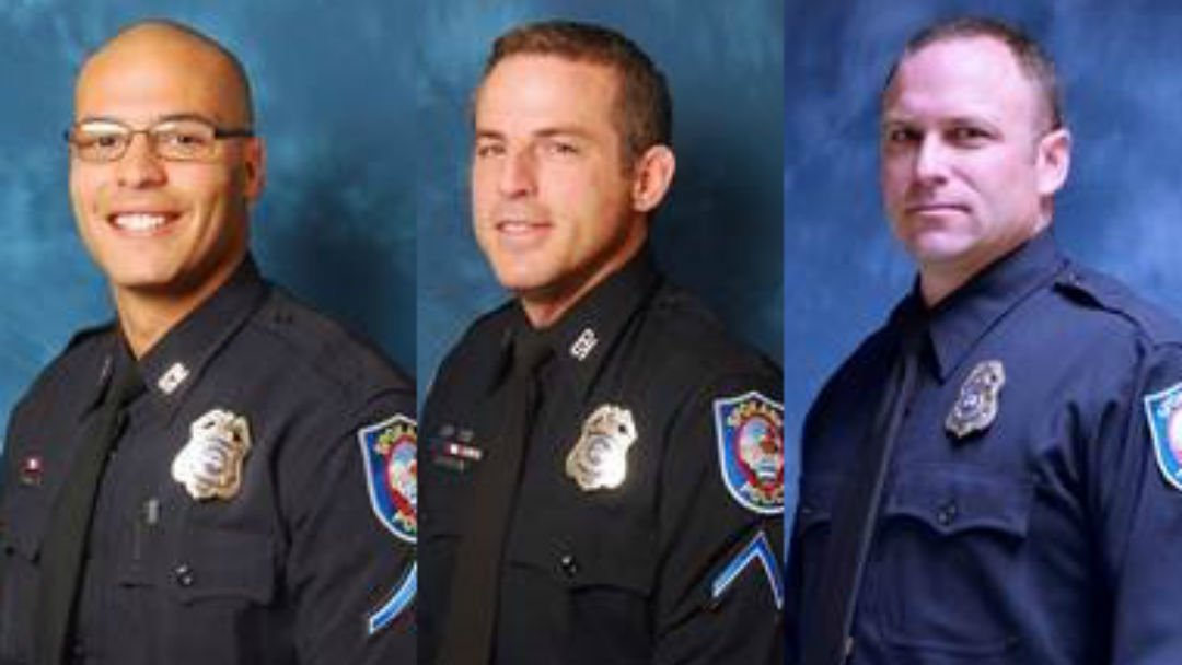From Left To Right: Officer Darrell Quarles, Sgt. Brian Exkersley, Officer Ryan Smith