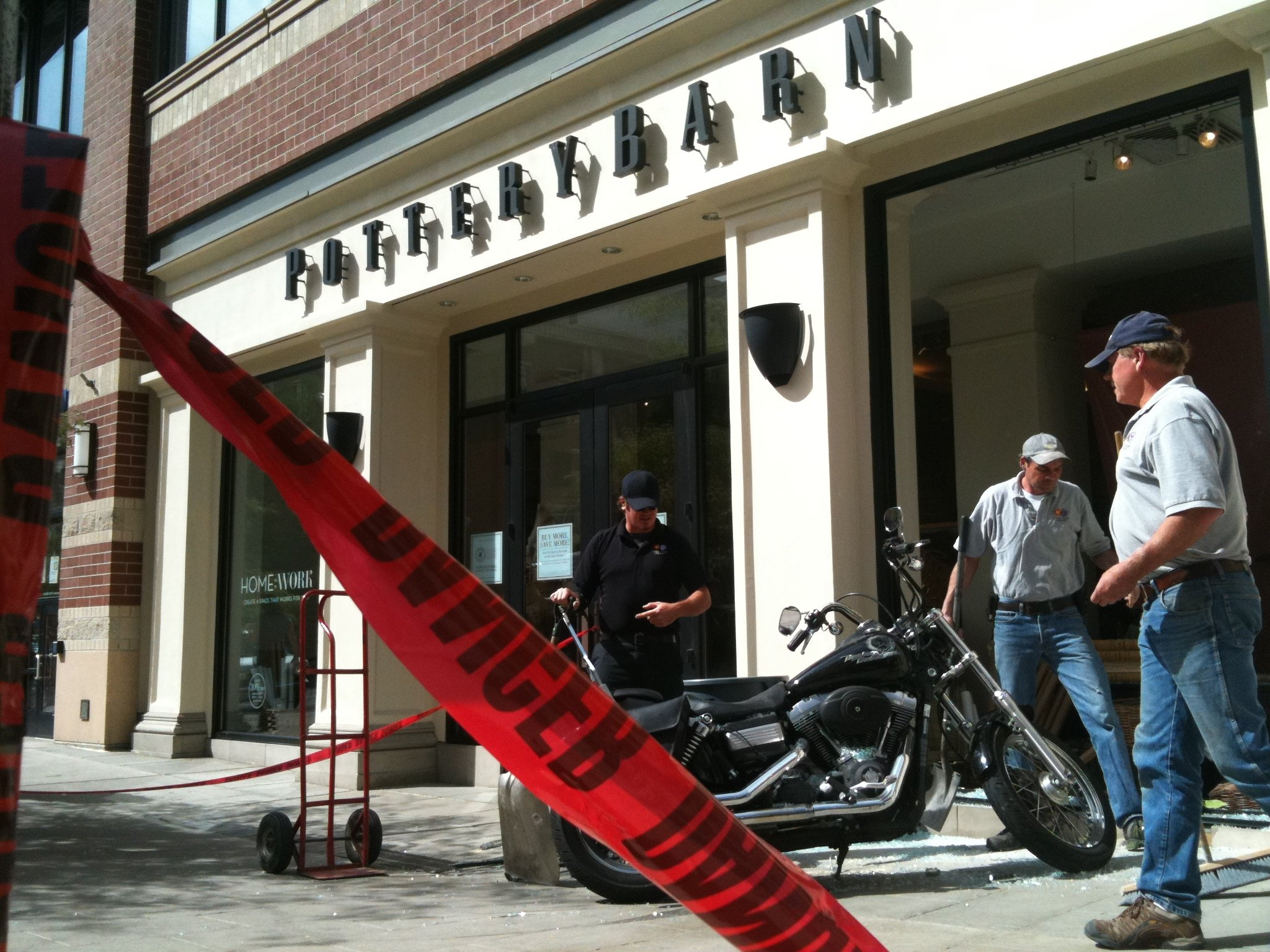 Motorcycle Crashes Into Pottery Barn In Downtown Spokane
