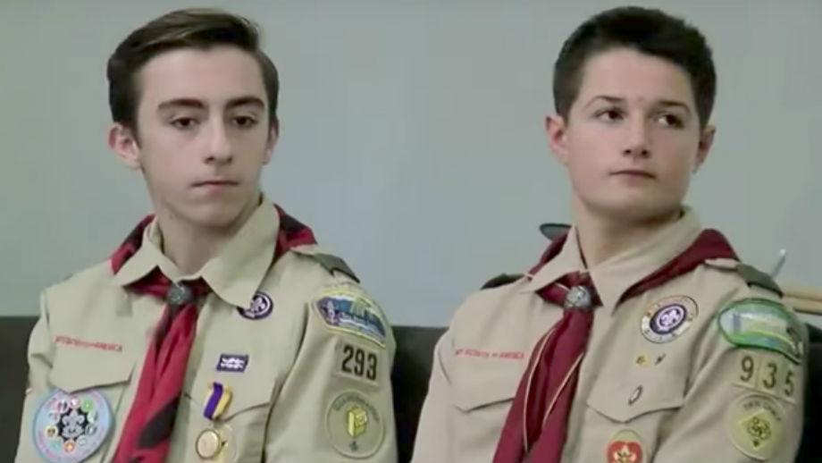 Brandon Klotter, left, and Max Kramer