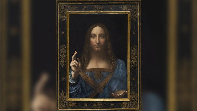 "The last Leonardo da Vinci painting in private hands is going to auction at Christie's in New York for an estimated $100 million. Da Vinci's depiction of Jesus, titled ""Salvator Mundi,"" will be auctioned on Nov. 15."