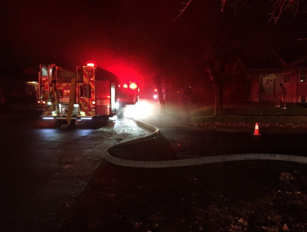 Crews respond to house fire in N. Spokane