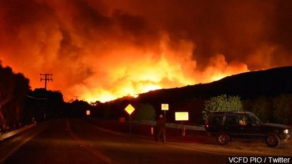 Thomas Wildfire in Ventura County California, Photo Date: 12/5/17