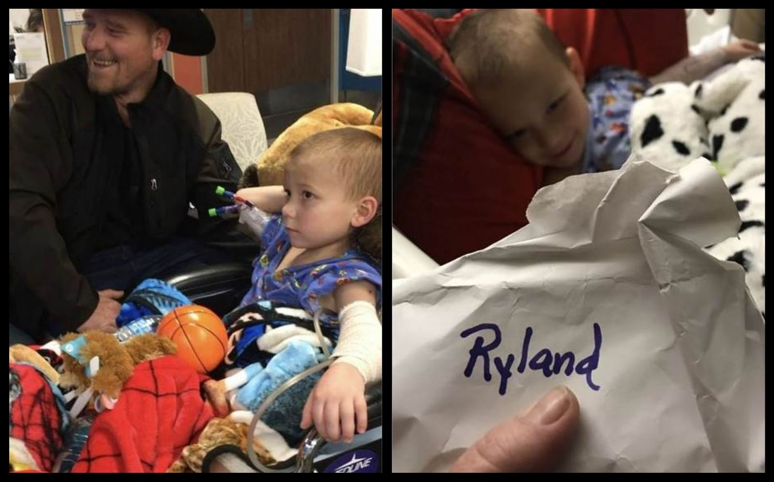 Ryland Ward, 5, who was shot during last month's massacre in Sutherland Springs, Texas, has been receiving get-well cards from people across the U.S.