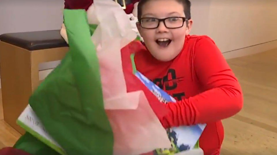 Ohio boy who gave up Xbox for blankets gets special surprise