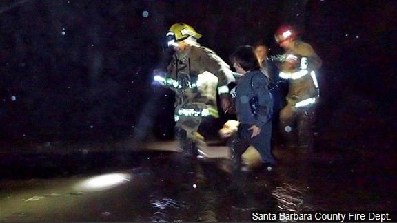 Multiple rescues were reported Tuesday in California's Santa Barbara County, Photo Date: undated