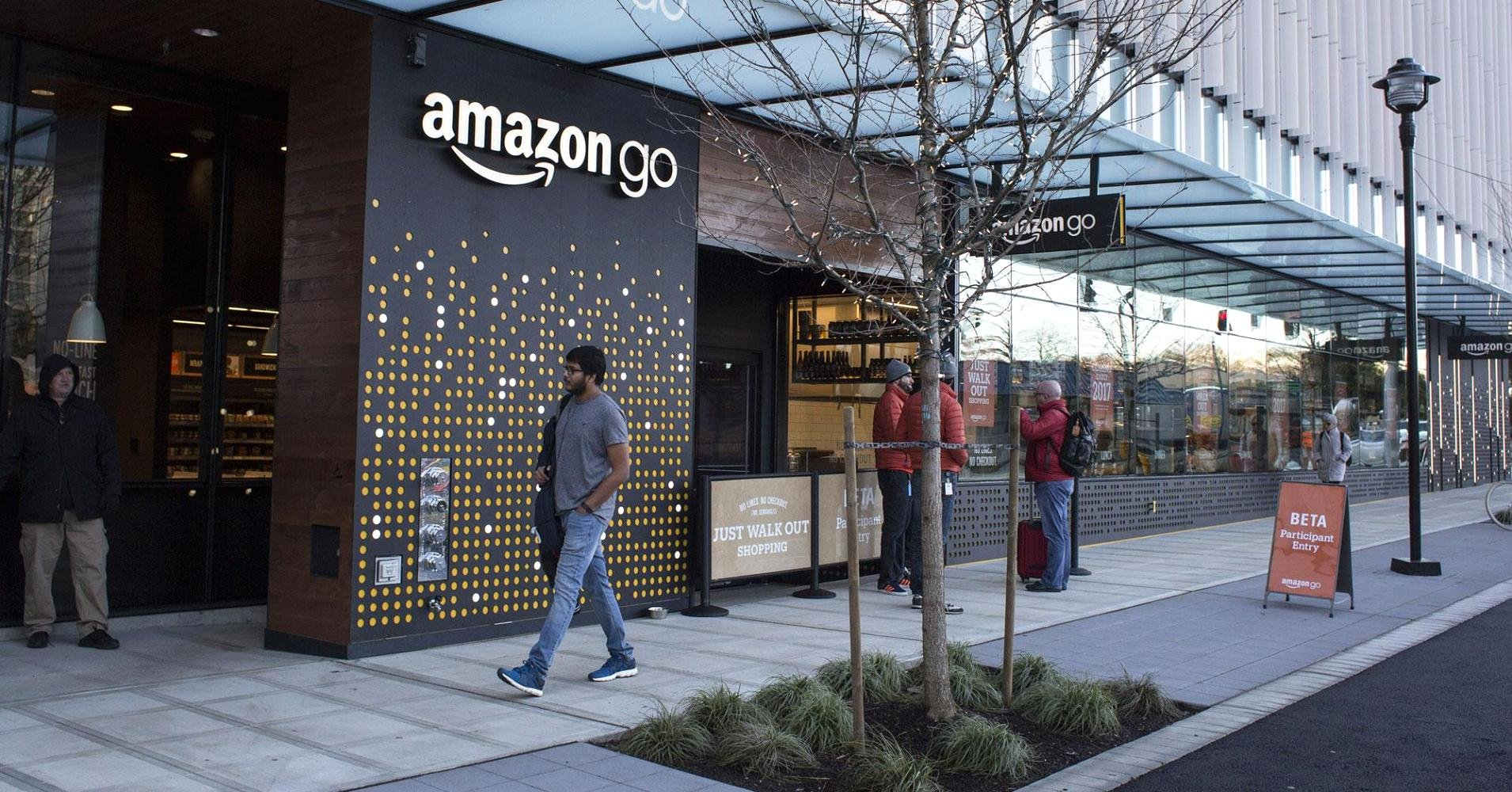 Amazon 39 s automated grocery store set to open monday swx for What grocery stores are open today