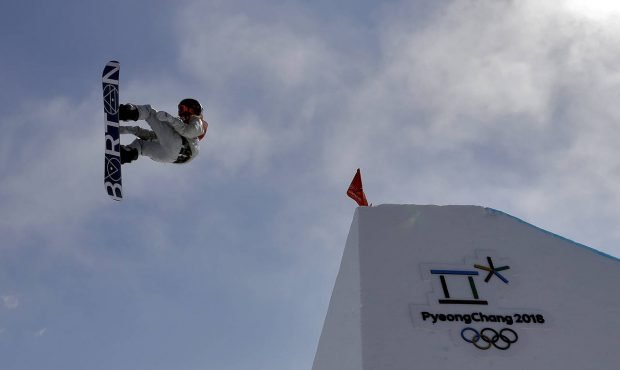 Red Gerard, of the United States, jumps during the men's slopestyle final at Phoenix Snow Park at the 2018 Winter Olympics in Pyeongchang, South Korea (AP Photo/Kin Cheung)