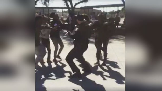 Culver City police officer dances devastation away for high school students