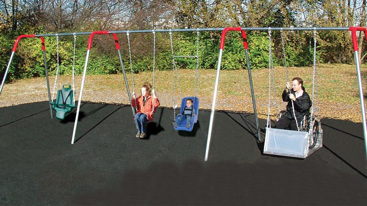 Example of wheelchair swing, courtesy Bluegrass Playgrounds