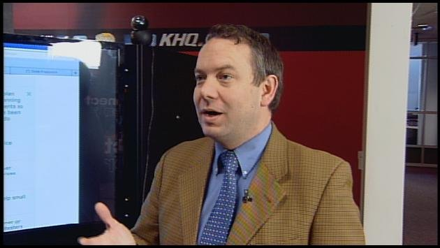 Mayor-elect David Condon appeared on NewsBreak with Dave Cotton on Monday morning (Photo: KHQ)
