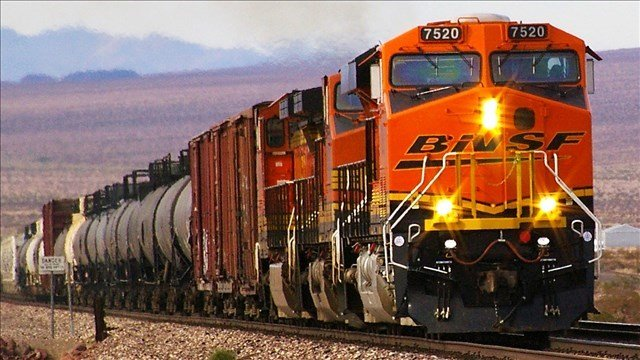 Stock image of a BNSF train