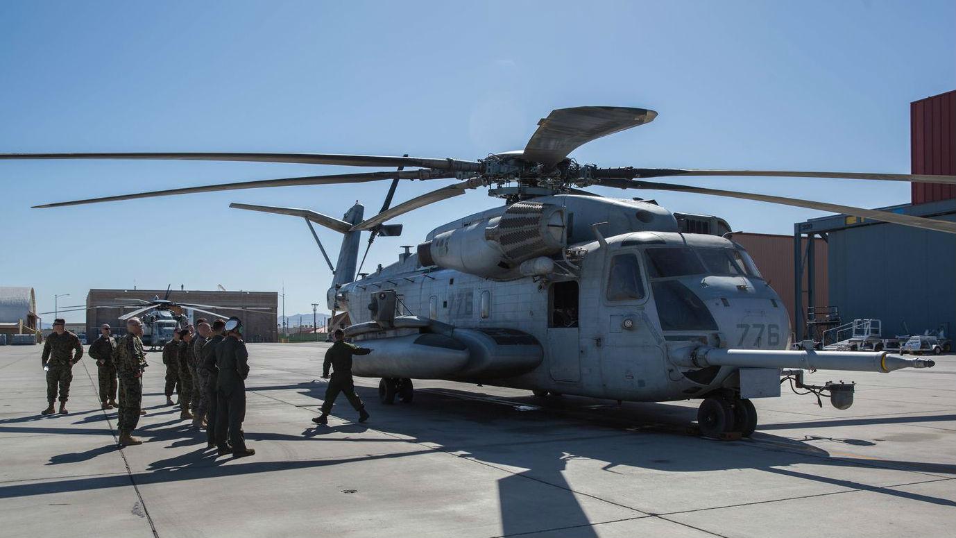 A CH-53 Super Stallion helicopter at Marine Corps Air Station Yuma in Arizona. (U.S. Marine Corps)