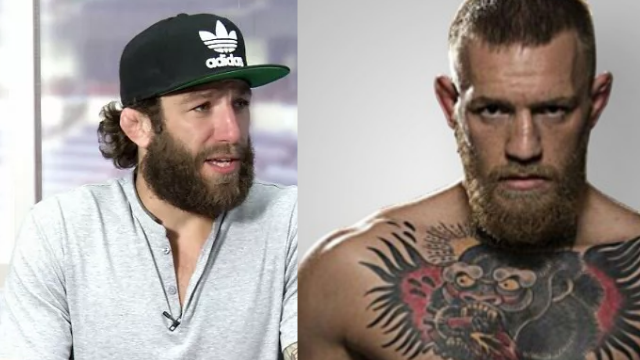 TMZ reports Spokane's Michael Chiesa (left) was 'cut to pieces' during McGregor's (right) attack