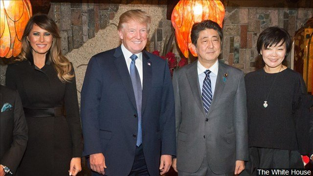 Trump and Abe in 2017