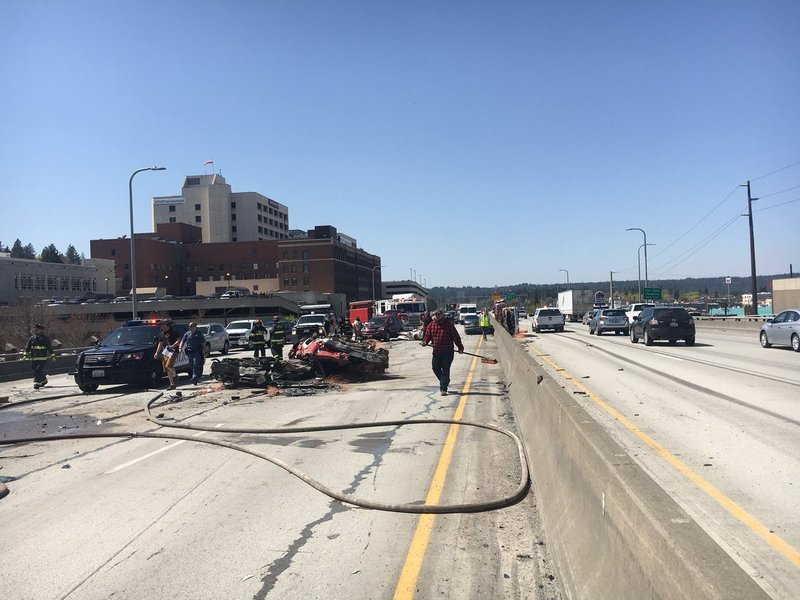 Photos all lanes of i 90 reopen after semi truck loses for Betterall motors yakima wa