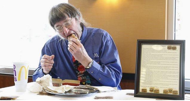 Don Gorske, a retired Wisconsin prison guard has eaten his 30,000th Big Mac