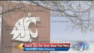 01:56; Lawsuit accuses Washington State University of racism
