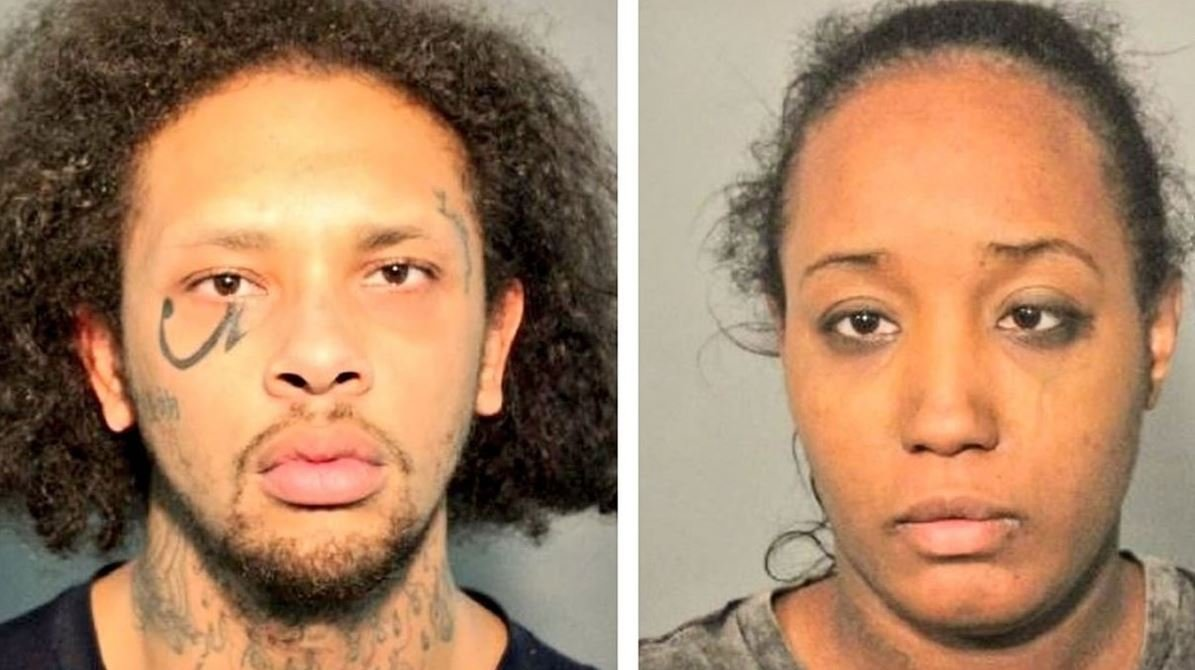 Jonathan Allen and Ina Rogers in booking mugshots released May 14, 2018, by the Solano County Sheriff's Office.