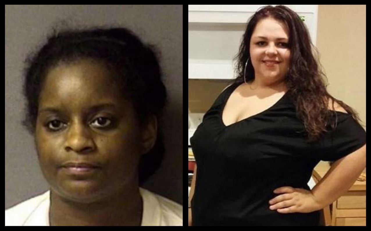39-year-old Geraldine R. Jones (left) has been sentenced to 30 years in prison for killing killing 23-year-old Samantha J. Fleming (right) and trying to pass off her 3-month-old infant as her own.