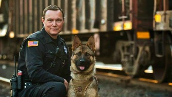 K9 Bane Finds Suspect Hiding In A Building After Foot