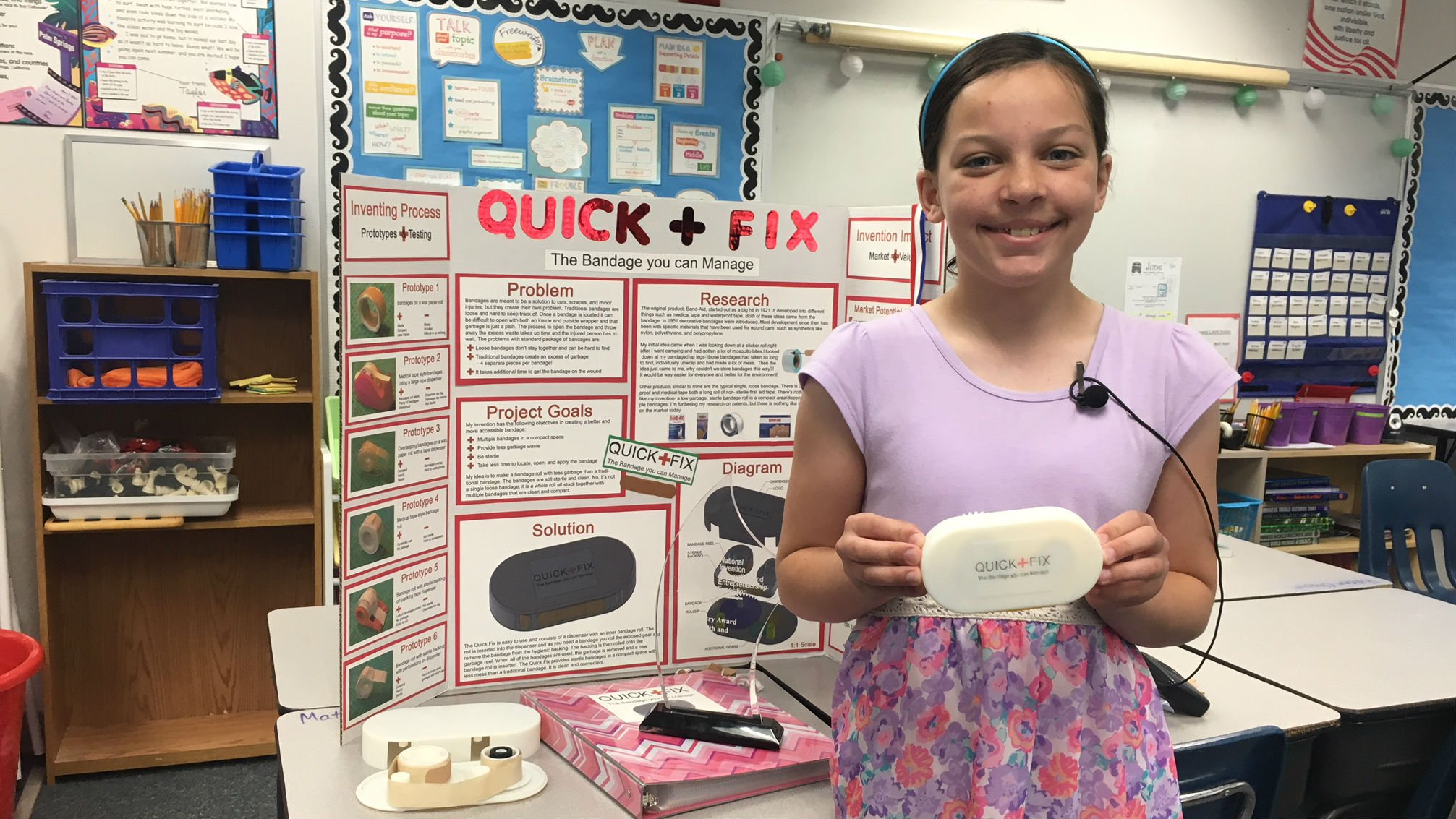 Lauren Stephens took home the top prize with her Quick Fix Bandage invention