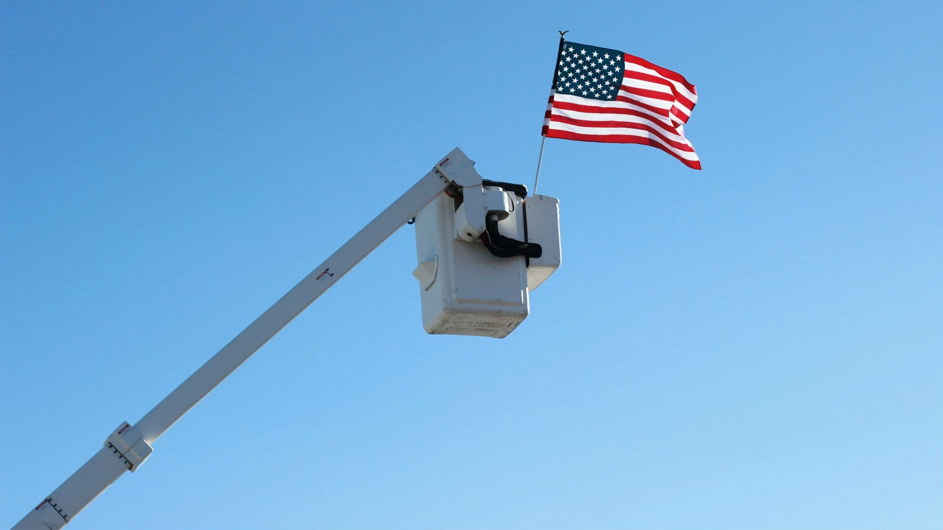 Flag flying in Bromiley's honor, Courtesy Chelan PUD
