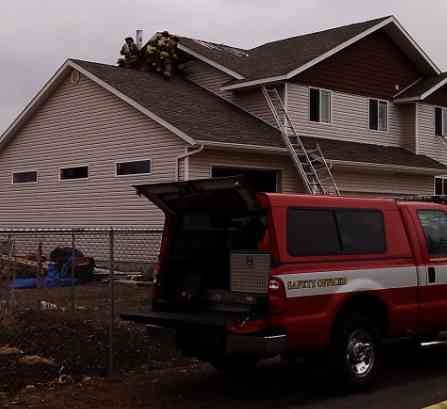 Firefighters Respond To An Attic Fire in Spokane Valley (Photo From KHQ)