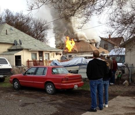 © Firefighters Were Called To A House Fire Sunday Afternoon (PHOTO KHQ)