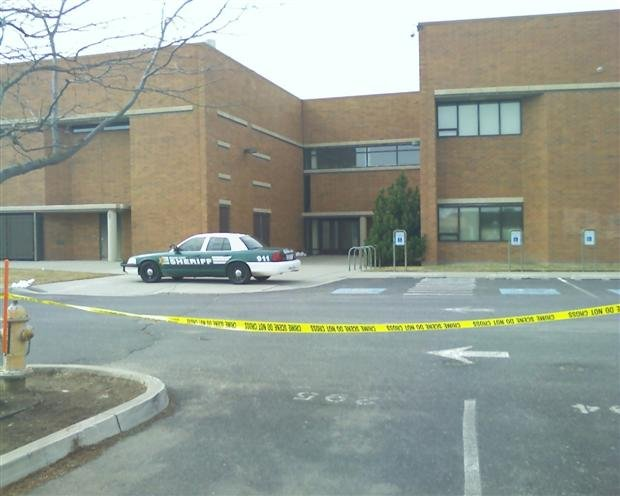 Sheriff's Deputies investigated a suspicious device at Mt. Spokane High School (PHOTO KHQ)