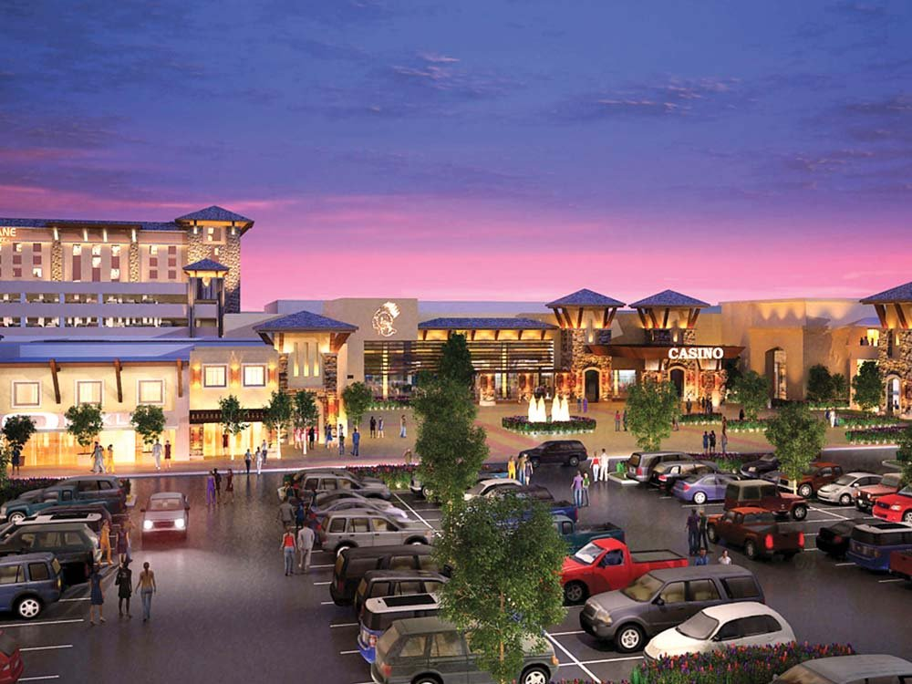 This rendering shows the vision for the Spokane Tribe's proposed development on 145 acres of land west of Spokane.
