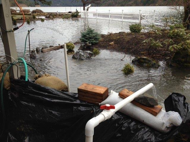 © KHQ's Katie Steiner snapped this photo of flooding near Fernan Lake in North Idaho