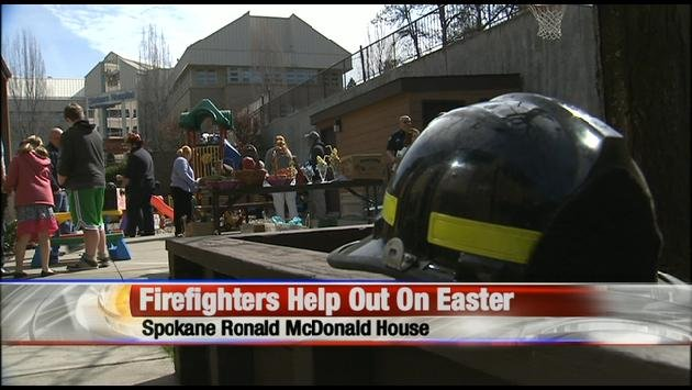 Firefighters Spent Their Easter Giving Back To Children At The Ronald McDonald House