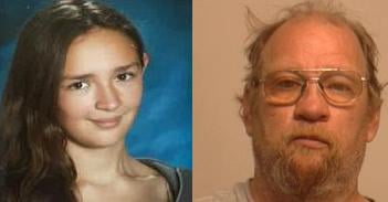 Carrie Lane (left) is believed to be with her uncle Steve Tofte (right). If you have any information on Carrie's whereabouts, call 911 immediately