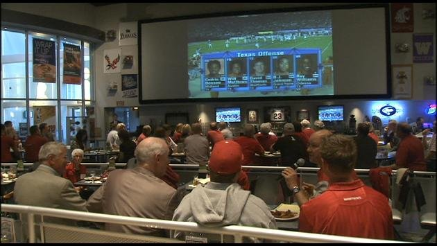 WSU Players, Coaches & Fans Gathered Monday To Watch The 2003 Holiday Bowl